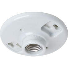 Medium Base Socket Keyless One-Light Porcelin Ceiling Ivory