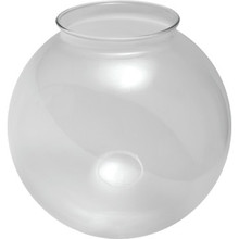 "Clear Globe Glass 6"" Necked 3-1/4"" Fitter Pack of 4"