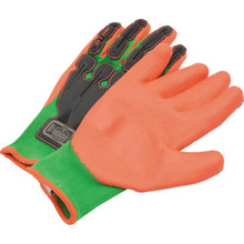Ergodyne Proflex Large Nitrile-Dipped Dorsal Impact-Reducing Gloves