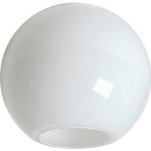 """White 12"""" Globe Acrylic 5-1/4"""" Opening"""