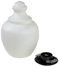 Exterior 75W Incandescent Frosted AcornPost Top Fixture Black