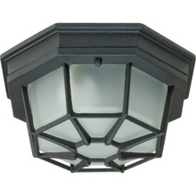 1-LIGHT CAST ALUMINUM CEILING FIXTURE