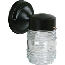 BLACK JELLY JAR PORCH FIXTURE