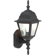 BLACK ALUMINUM PORCH LANTERN