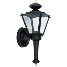 BLACK STEEL PORCH LANTERN