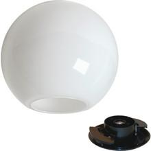 Exterior 75W Incandescent Opal GlobePost Top Fixture Black