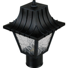 Exterior 60W Incandescent Post Top Fixture Black
