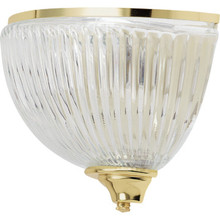One-Light Wall Sconce Polished Brass Halophane Glass