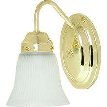 One-Light Wall Sconce Polished Brass Frost Tulip Glass