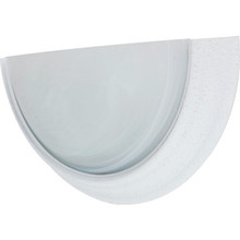 One-Light 13W Fluorescent Wall Textured-White Alabaster-Style Glass