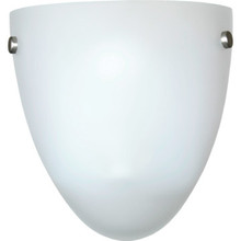 LED Wall Sconce, Brushed Nickel, Satin Etched Glass