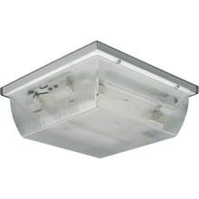 Outdoor Fluorescent Ceiling Fixture, 26 Watt, Clear Prismatic Acrylic Lens