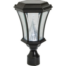Exterior LED Post Top Fixture Black