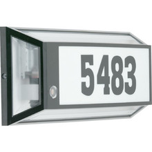 Address-O-Lite Outdoor Fluorescent Wall Fixture, 13 Watt, Black, Photocell