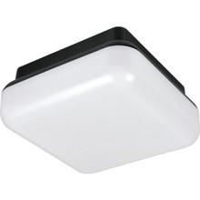 Outdoor Fluorescent Square Ceiling Fixture 26 Watt Black, White Lens