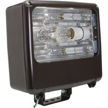 400 Watt High Pressure Sodium Large Bronze Flood Light With Tempered Glass Lens