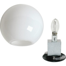 Exterior 150W High Pressure Sodium Globe Post-Top Fixture Black