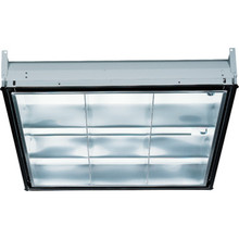 2' X 2' Three-Light 17 Watt T8 Fluorescent 9 Cell Louver Parabolic Troffer