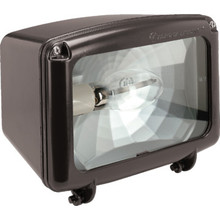 150 Watt High Pressure Sodium Bronze Flood Light With Tempered Glass Lens