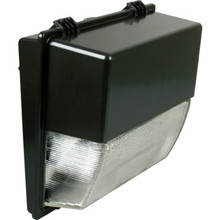 250 Watt High Pressure Sodium Bronze Wall Pack With Clear Prismatic Glass Lens