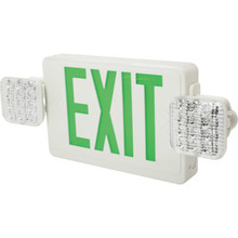 Green LED Economy Thermoplastic Emergency Exit Unit Combo With Battery Back Up