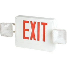 LED Two-Light Emergency Exit Sign Battery Back Up Red Pack of 2