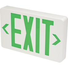 LED Battery Back Up Exit Sign Green Single Or Double Sided Pack of 4