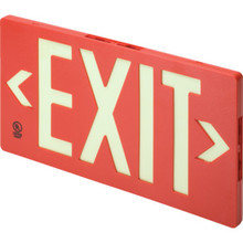 Glo Brite Single Sided Exit Sign Red