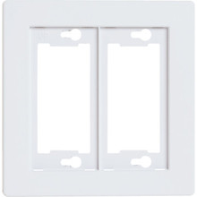 Allure Double Wall Plate - White - Package Of 3