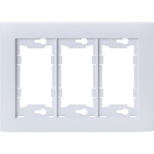 Allure Triple Wall Plate - White - Package Of 3