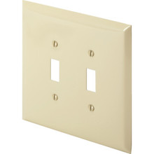 Jumbo Double Switch Plate - Ivory - Package Of 10