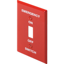 Emergency Switch Plate