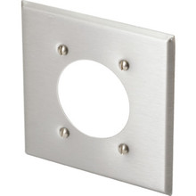 Double Gang Receptacle Wall Plate - Stainless Steel