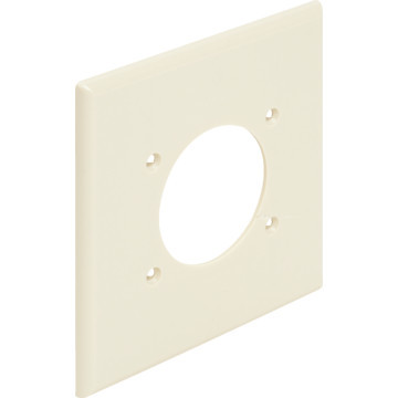 Plastic Double Gang Wall Plate White