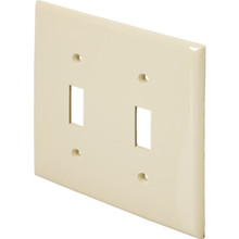 Double Toggle Wall Plate Jumbo Ivory Package Of 10