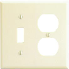 Double Gang Combo Wall Plate - Ivory - Package of 25