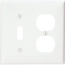 Double Gang Combo Wall Plate - White - Package Of 25