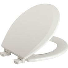 Bemis Wood Round Toilet Seat Quick Change Hinge Heavy-Duty
