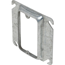 "Steel 4"" Square 1/2"" Raised Single Gang Cover"