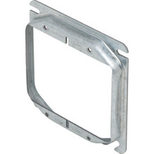 "Steel 4"" Square 1/2"" Raised Double Gang Cover"
