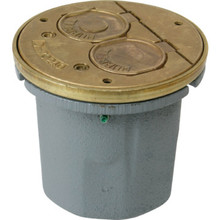 Round Box Floor Kit for Wood Floors - Brass Duplex Cover Included
