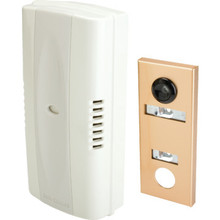Two-Note Mechanical Door Chime with One-Way Wide Angle Viewing Lens