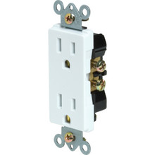 15 Amp Decorator Receptacle - White - Package of 10
