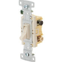 15 Amp 3-Way Quiet Wall Switch - Ivory