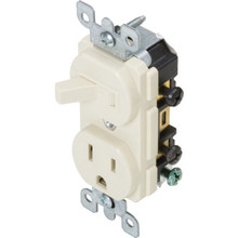 15 Amp Combo Toggle/Receptacle - Ivory