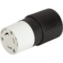 Locking Connector 30 Amp 125 Volt B/W