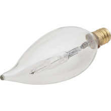 Halogen Bulb Philips 40W Clear Flame, Candelabra Base, Package of 12