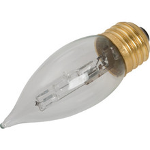 Halogen Bulb Philips 40W Clear Flame, Medium Base, Package of 12