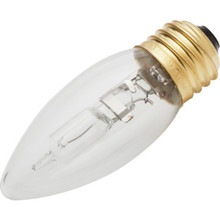 Halogen Bulb Philips 40W Torpedo, Medium Base, Package of 12