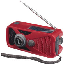 Emergency Preparedness Radio - Hand Crank and Solar Powered - Analog Radio